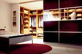 Wand für begehbaren Kleiderschrank