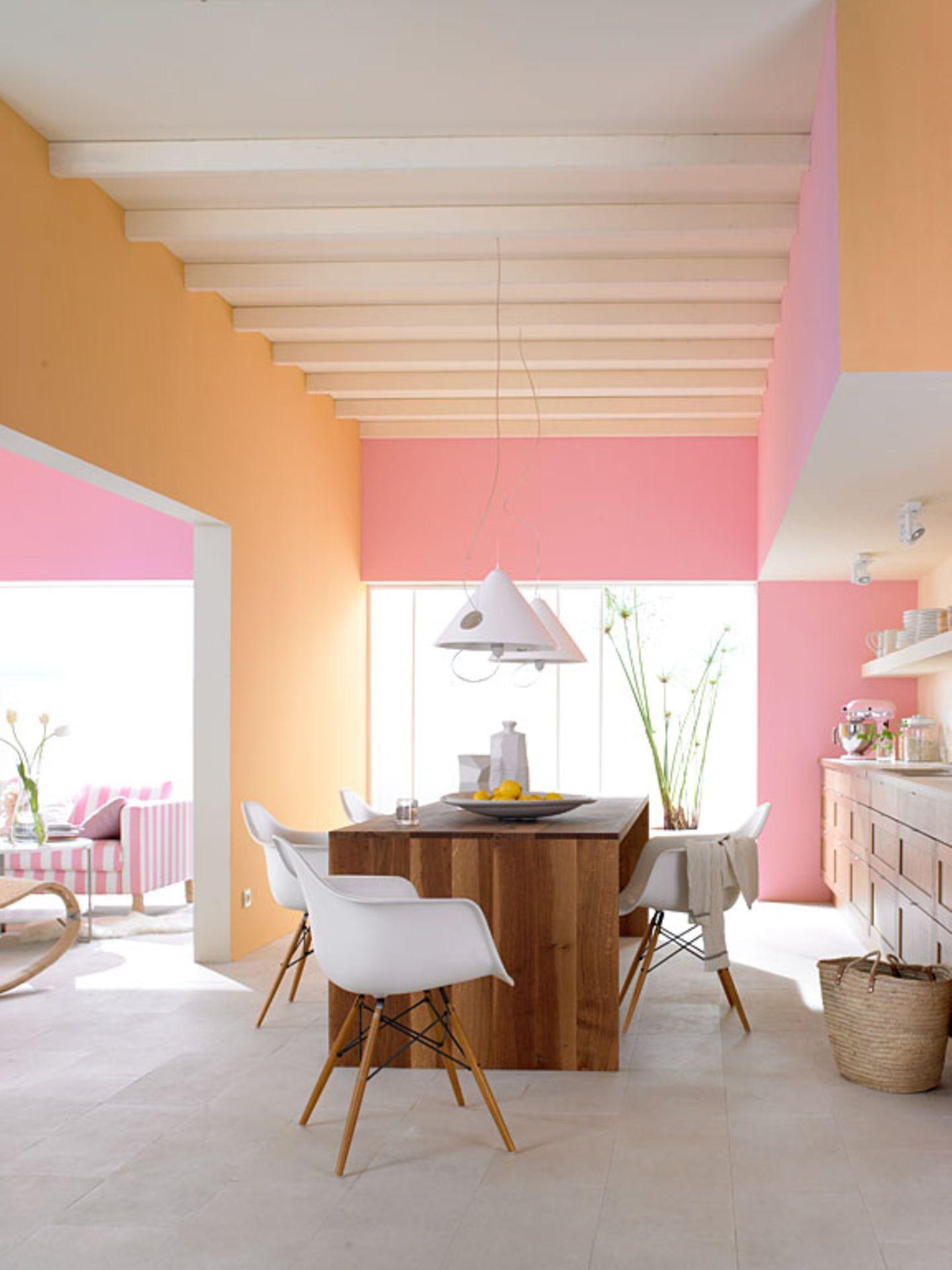 Heiteres Farben-Duo für die Küche