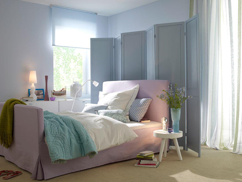 Zarte Pastelltöne für das Schlafzimmer