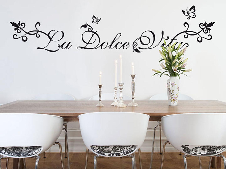 """Wandtattoo mit italienischem Flair: """"La Dolce Vita"""""""