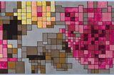 """Pixel-Power für den Boden: Bretz fertigt Teppich """"Pixel Rose"""""""