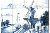 Fliesenbild aus Delfter Fliesen