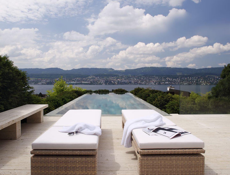 Terrasse mit Blick auf den Zürichsee