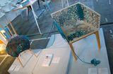 """Die Langsamakeit neu entdecken kann man mit den Möbeln von Susanne Westphal. So ist der Sessel """"Stitch"""" mit passendem Hocker """"W…"""