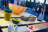 """Die Körbe der Serie """"Moa"""" von Eva Marguerre und Marcel Besau werden aus elastischem Garn und Kunstharz hergestellt."""
