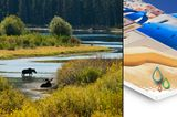 Landschaftsaufnahmen: Hartschaum- bzw. Forexplatte