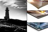 Schwarz-Weiß-Aufnahmen: Acrylglas oder Alu-Dibond