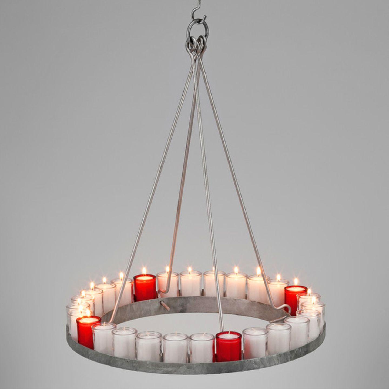 Adventskranz aus Stahl von Manufactum
