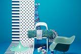 Cool: Azurblau zu Weiß und Türkis