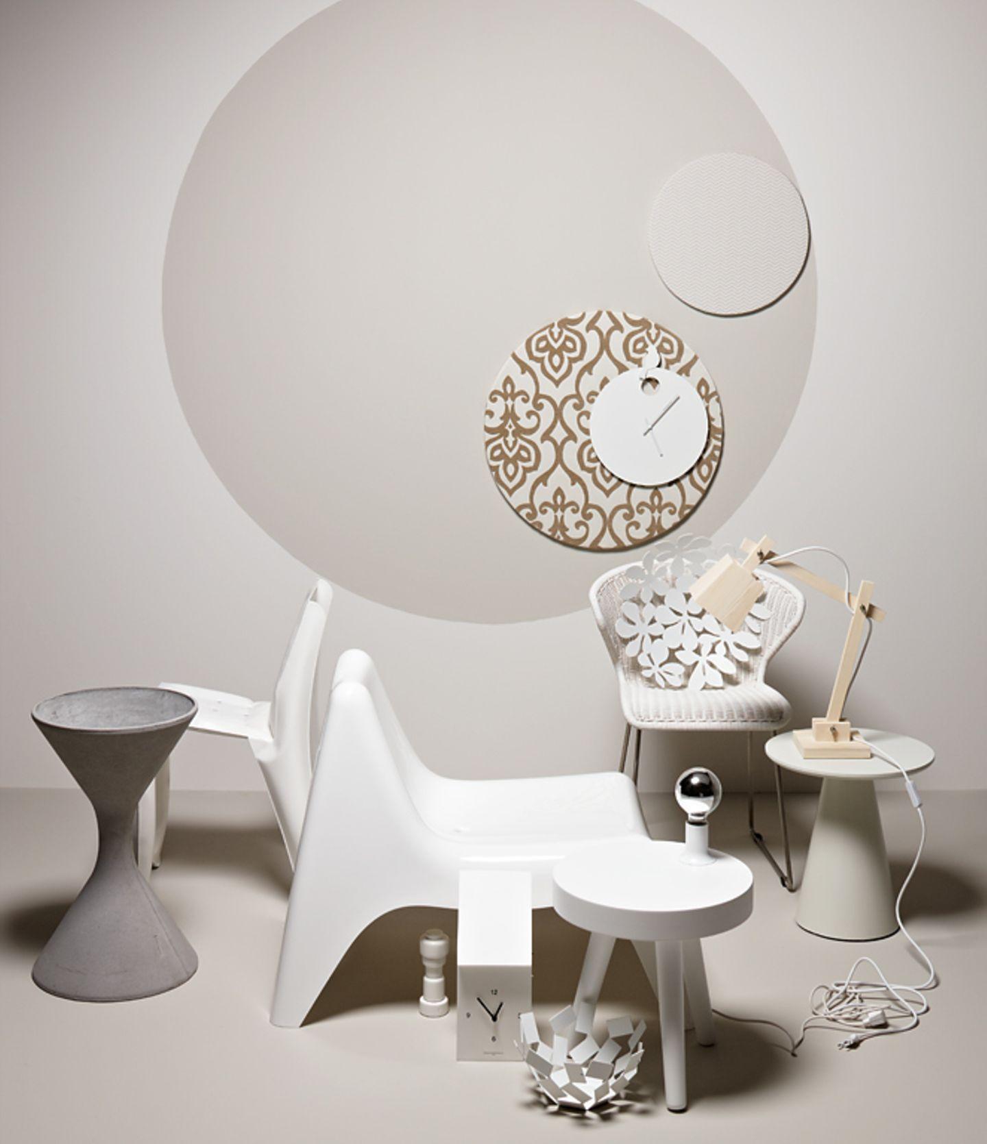 Ruhig: Sandtöne zu Weiß und hellem Holz