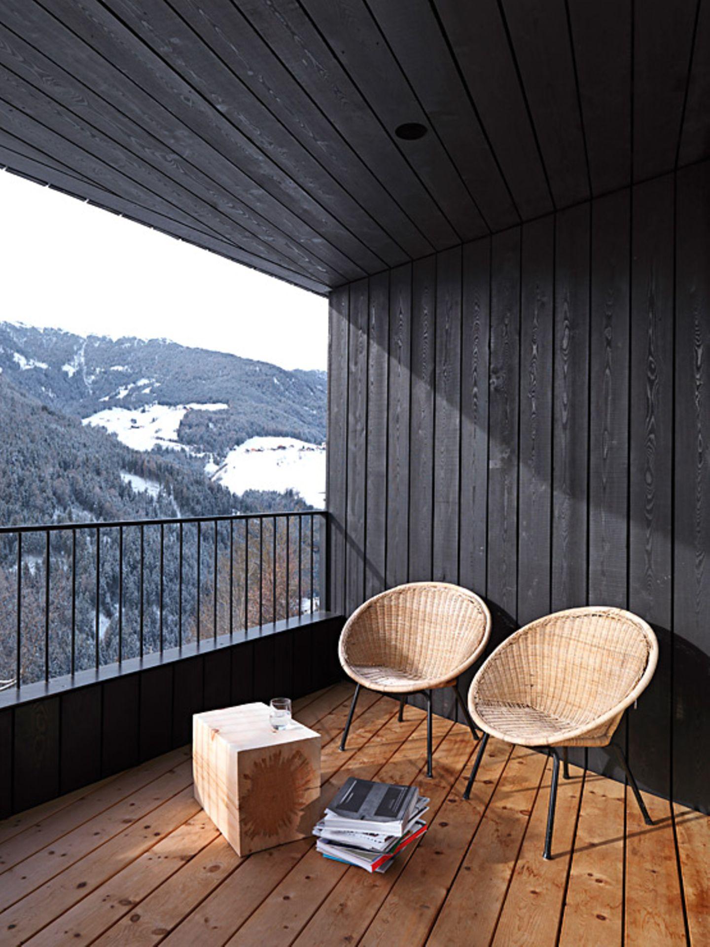 Terrasse aus Lärchenholz