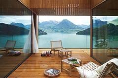 Terrasse mit inszenierter Aussicht