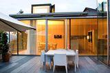 Dachterrasse zwischen Wohn- und Esszimmer
