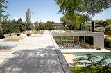 Dachterrasse mit Gartenblick
