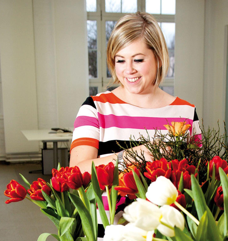 Die Expertin mit dem Blumen-Abo: Franziska Scheidel