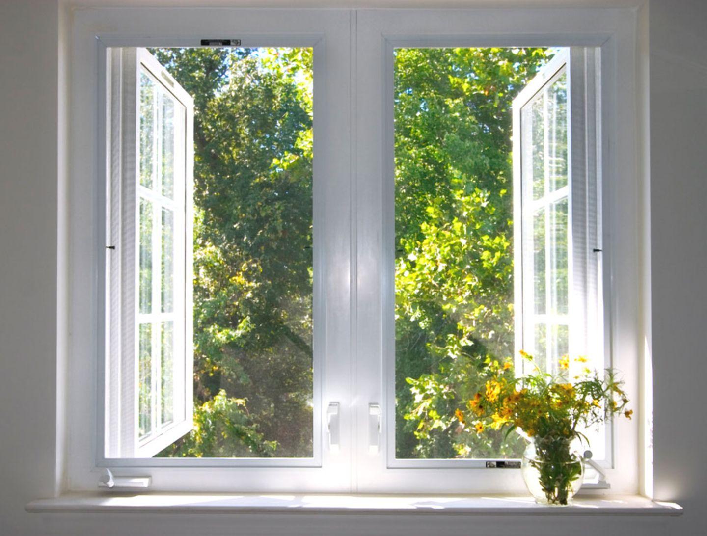 Fenster öffnen und Farbe trocknen lassen
