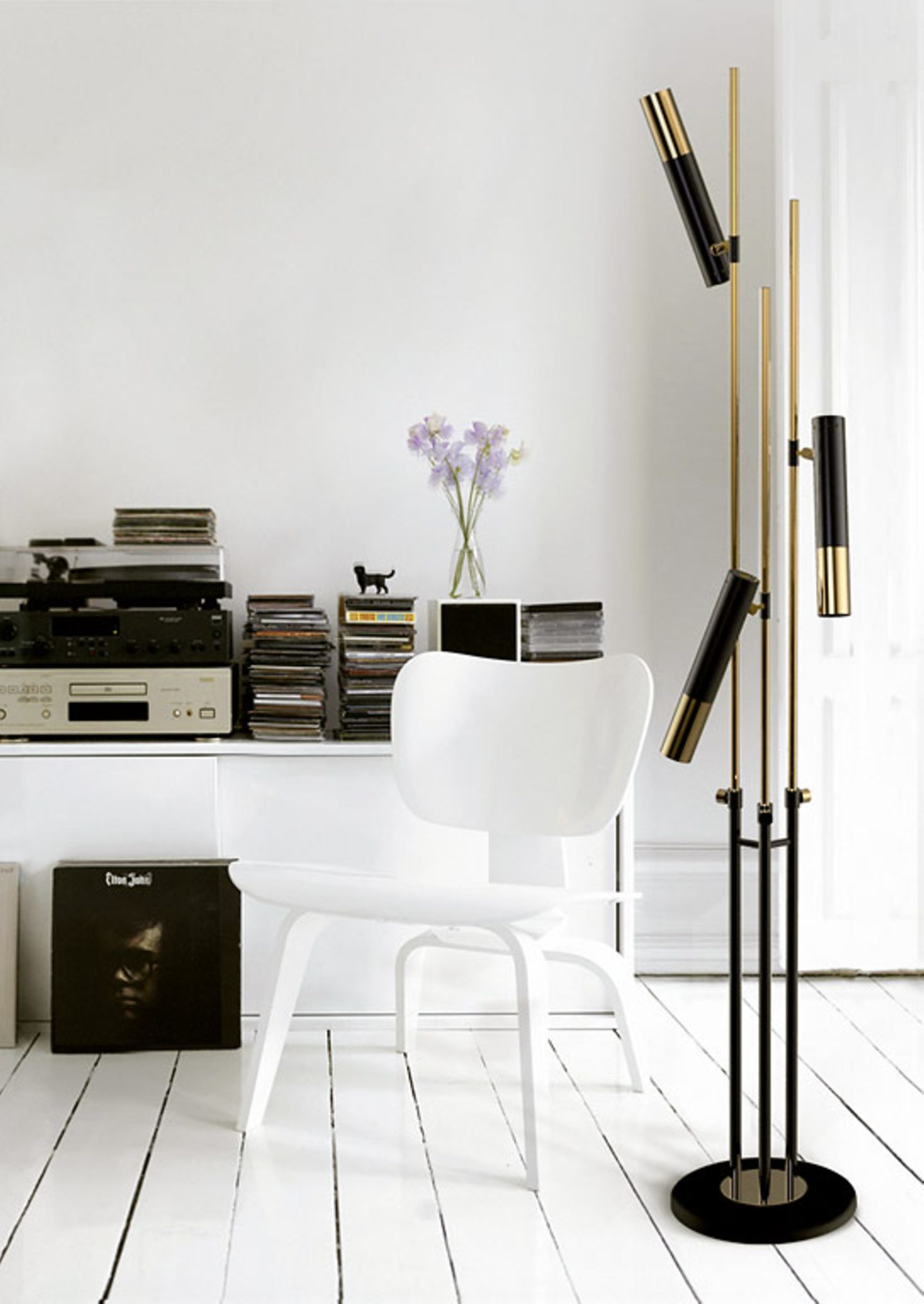 Elegant: Gold mit Schwarz und Weiß