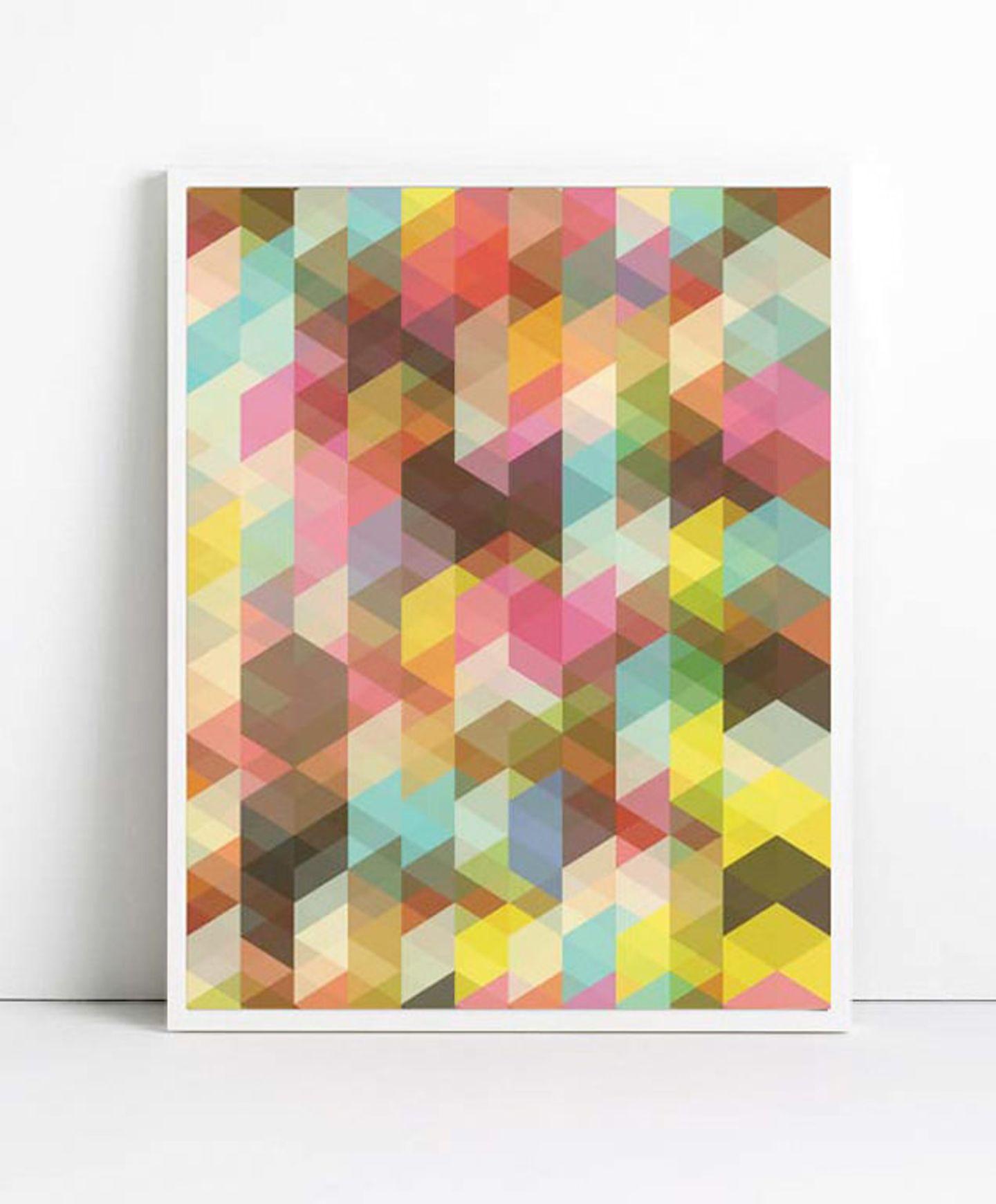 """Geometrisch: """"Abstract Print"""" von Angela Ferrara"""