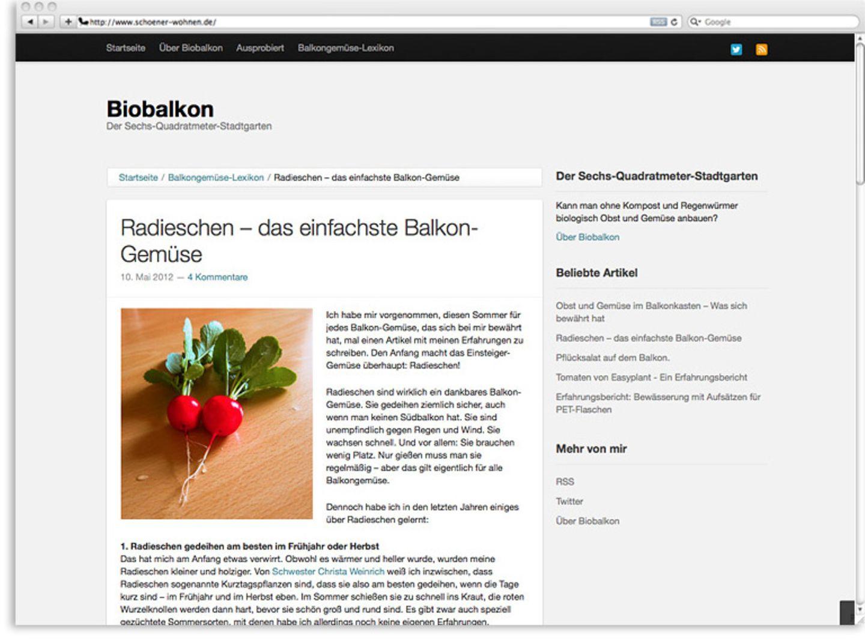 """Für Balkongärtner: """"Biobalkon"""""""