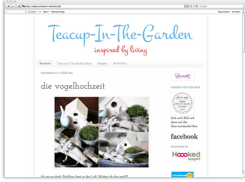 "Stilvoll gärtnern: ""Teacup in the garden"""