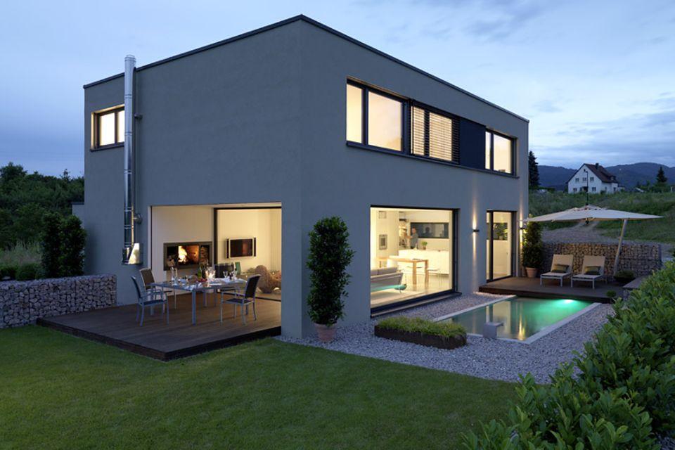 4. Platz: Quaderförmiges Wohnhaus aus Beton