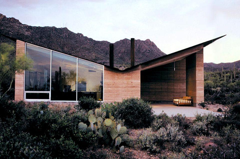 Ein perfekt an die Wüste angepasstes Haus