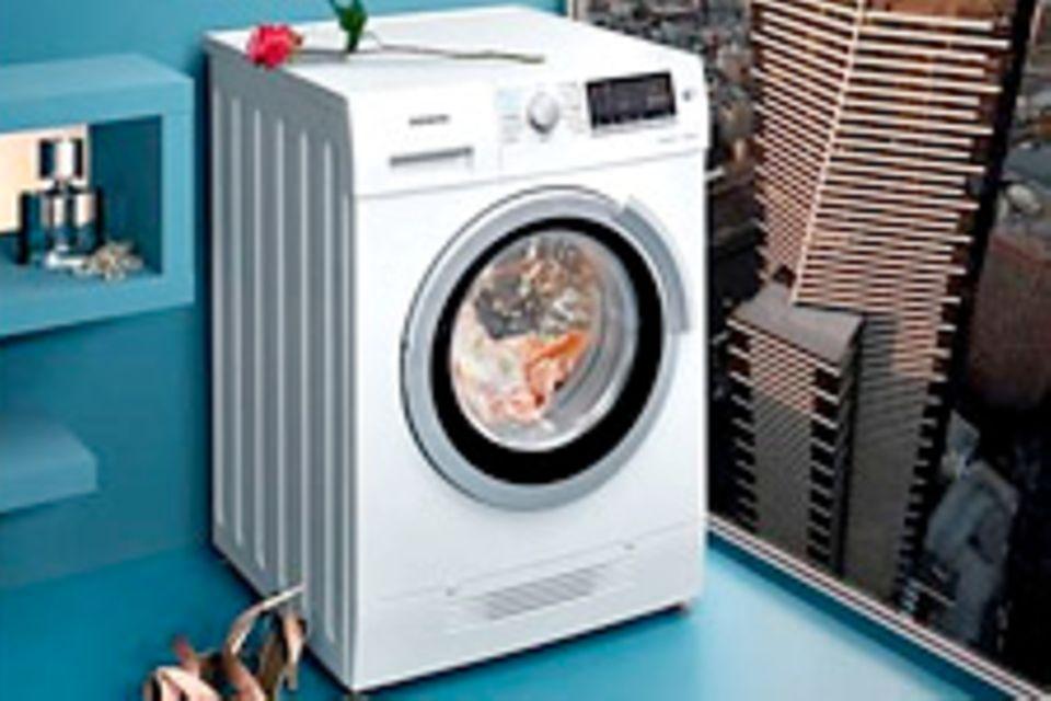 Waschen und Trocknen in einem Gerät