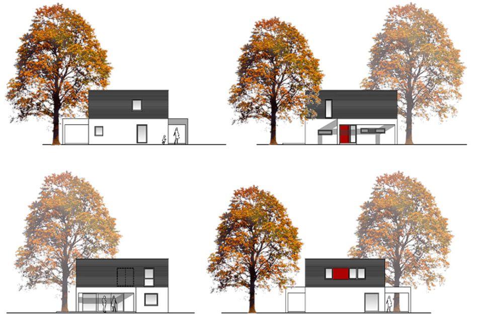 Ein Haus - 4 Varianten