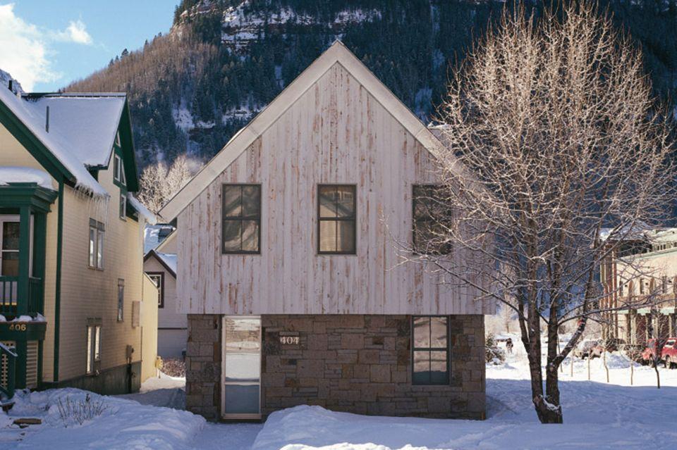 Minimalistisches Einfamilienhaus
