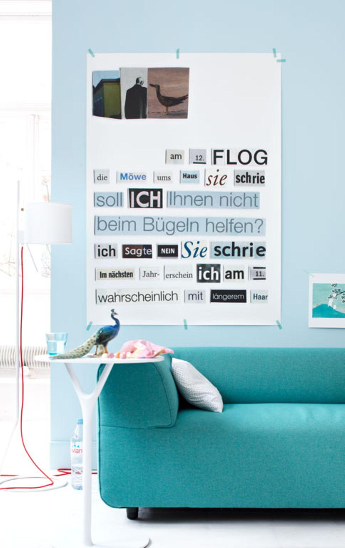 Moderne Farbfamilie mit Blautönen