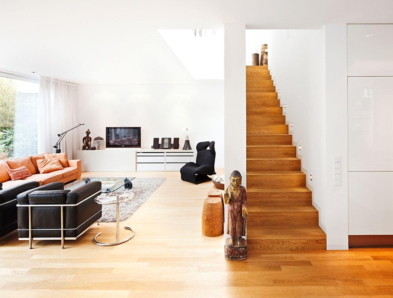 Kontrastprogramm im Treppenaufgang
