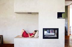 Perfekte Kombination: Kamin mit Bank