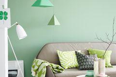 Wand in Grün