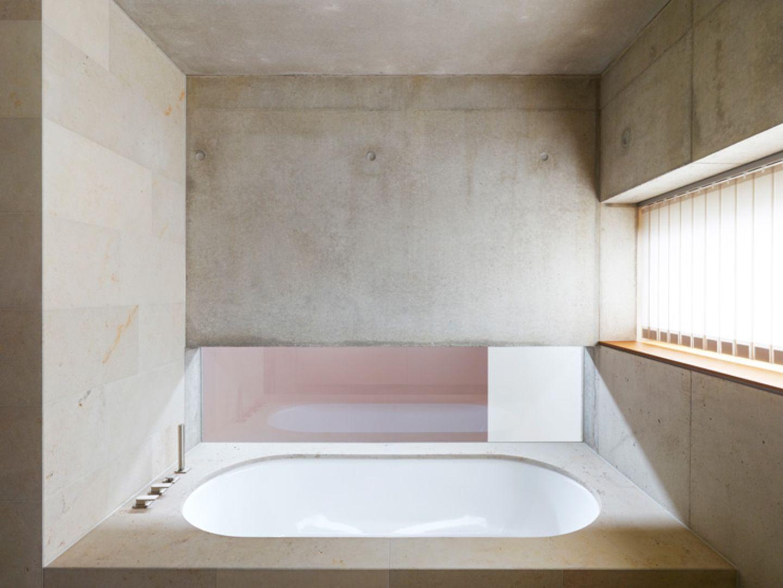 Badezimmer im Betonkern