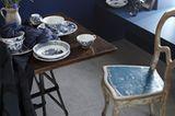Geschirr mit blauem Dekor - Bild 6