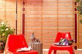 Wow-Akzente in Rot für die Terrasse