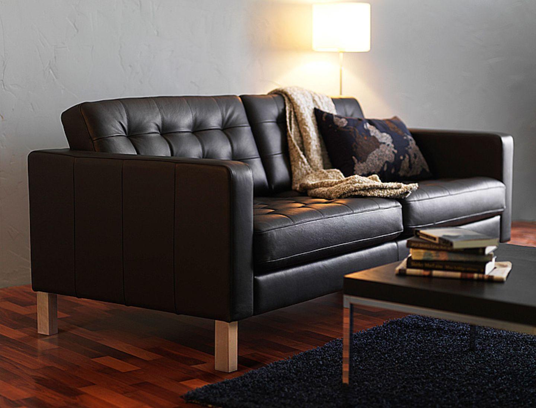 """Ikeas Sofa """"Karlstad"""" mit Lederbezug"""