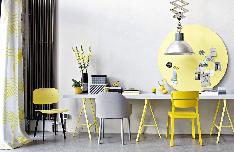 Gelb bringt gute Laune an den Arbeitsplatz
