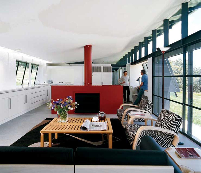 Wohnzimmer mit Veranda-Charakter
