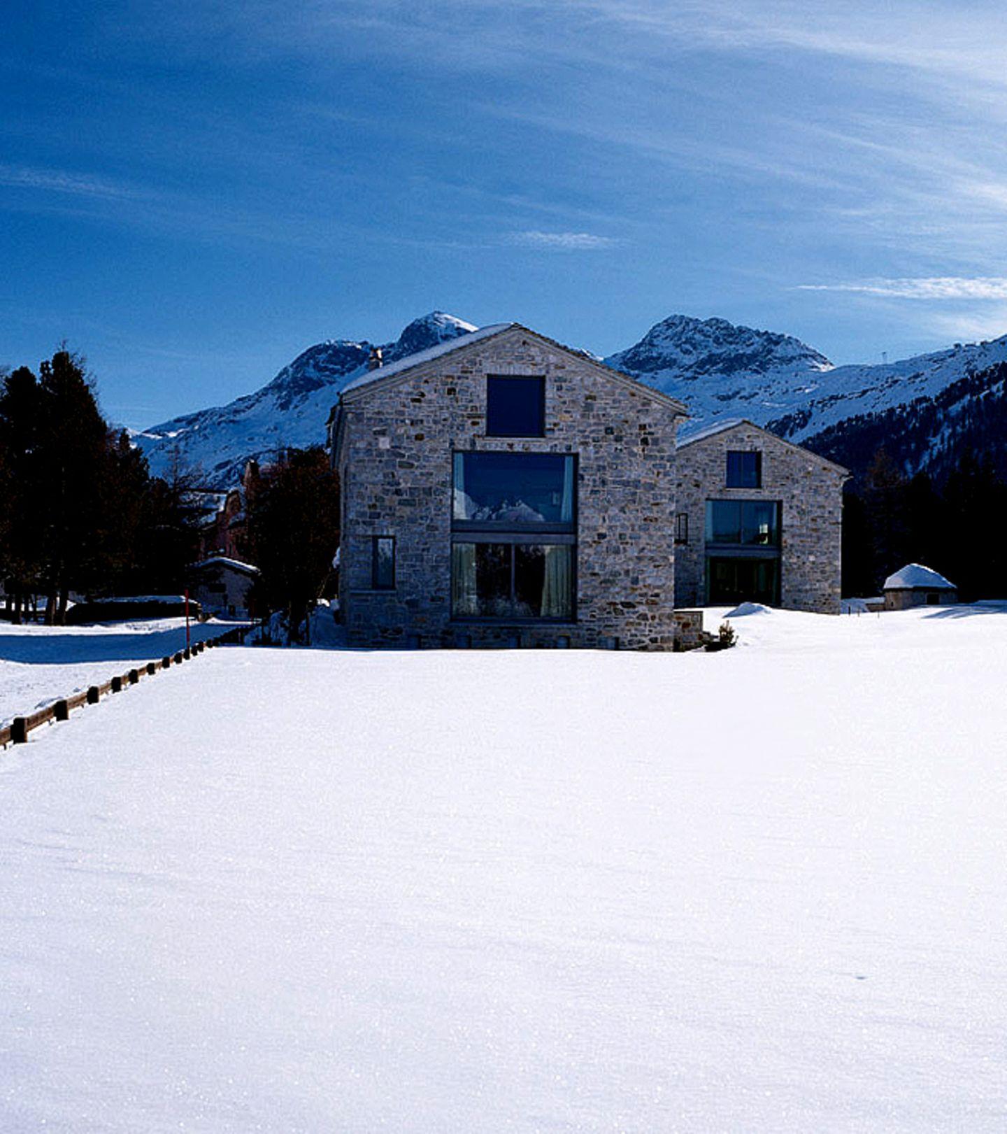Geradlinige Häuserformen