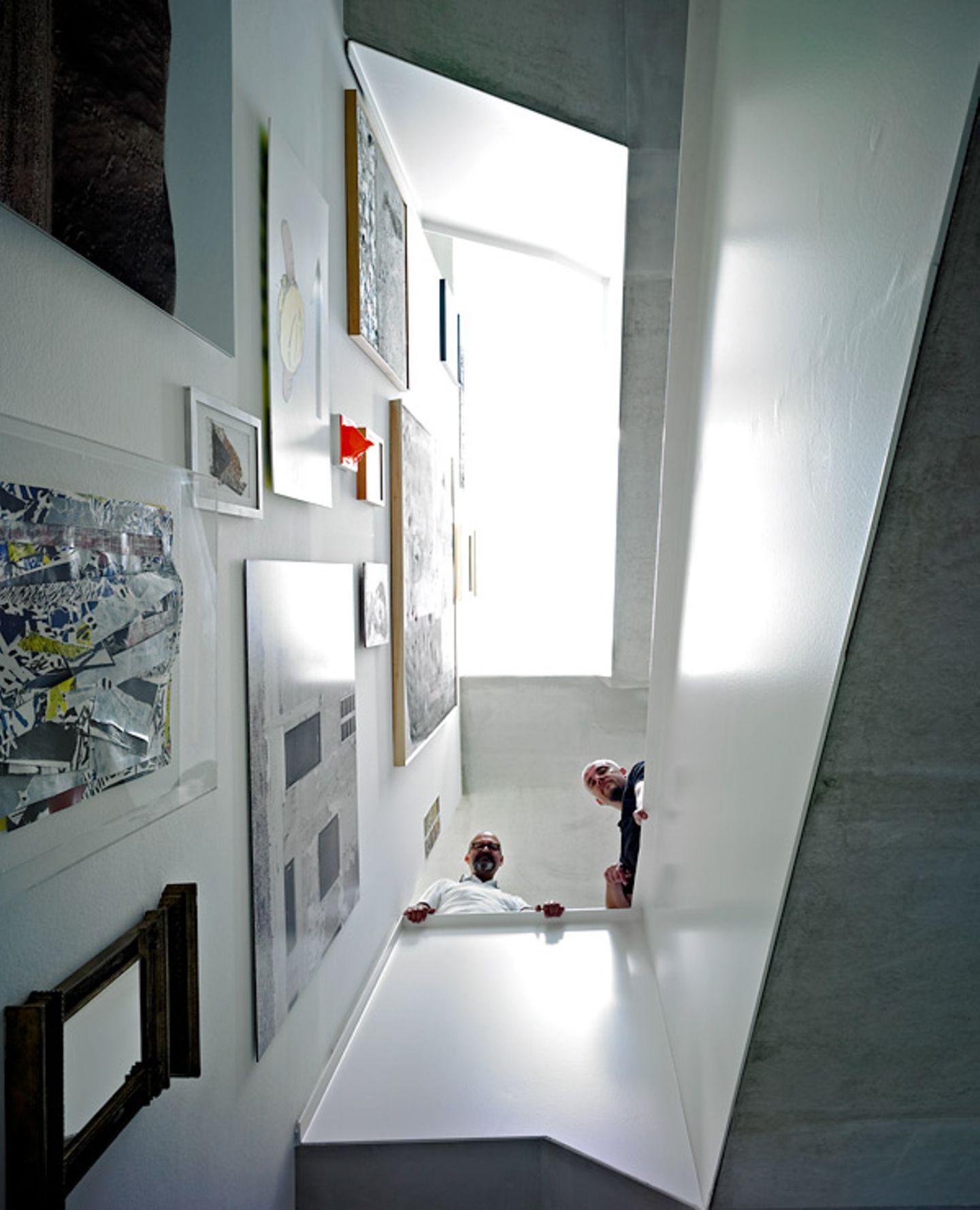 Kunstausstellung im Treppenhaus