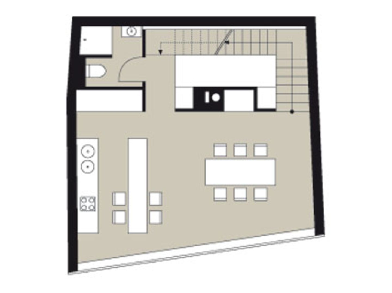 Planmaterial: Kubistischer Neubau mit Dachterrasse