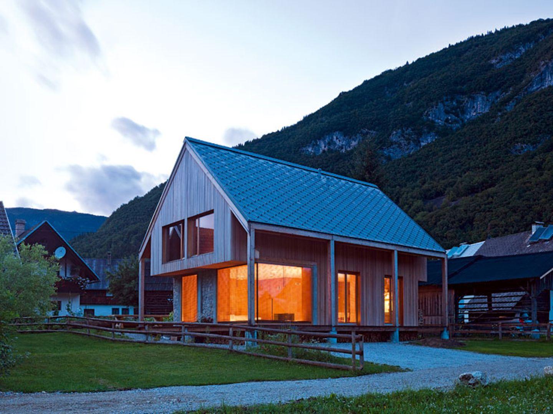 Ferienhaus mit Blick auf die Julischen Alpen