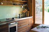 Küche mit viel Eichenholz