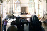 Maschinensaal mit Küche