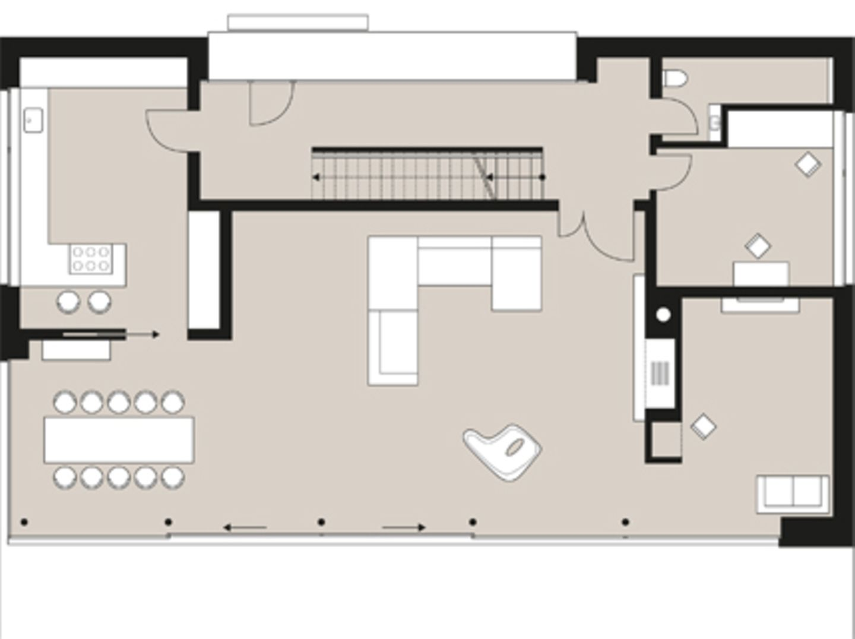 Planmaterial: Zum Garten geöffneter Quader