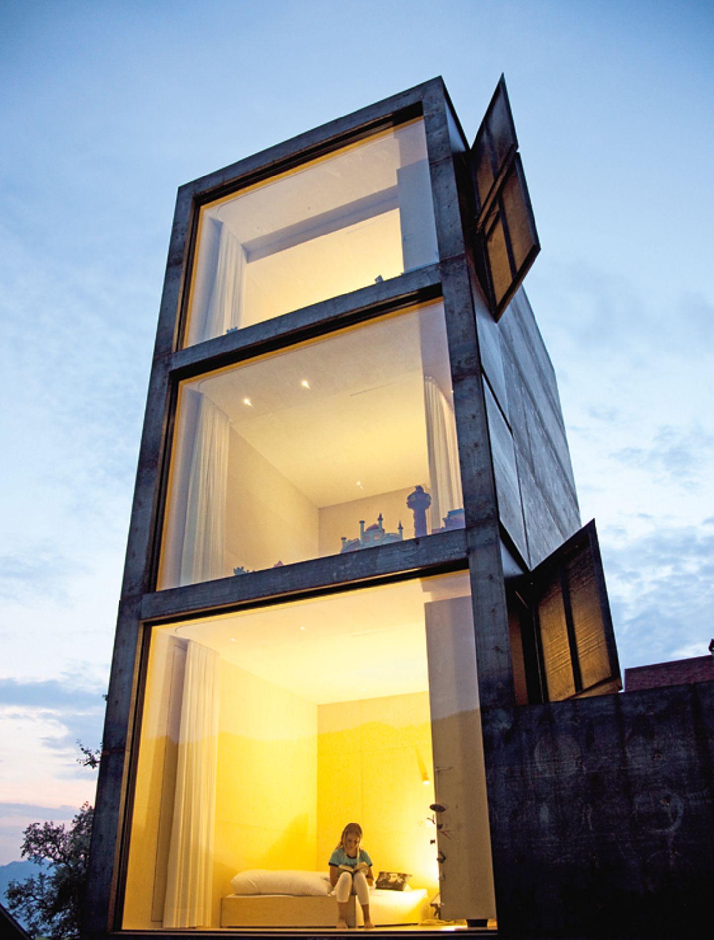 Gestapeltes Wohnen im Turm