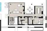Planmaterial: Klassisch moderne Villa in Hanglage