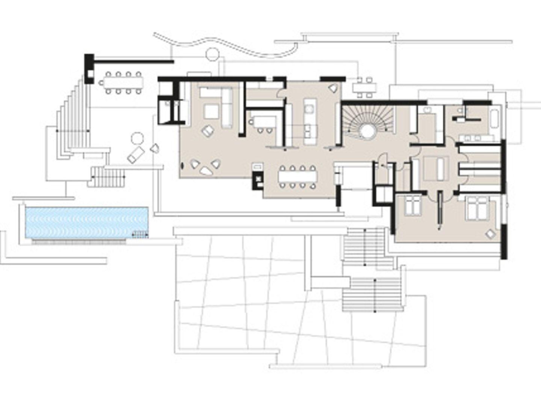 Planmaterial: Großzügige Villa aus Beton