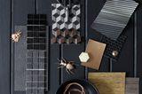Schwarz & Metall: Materialmix mit Stil